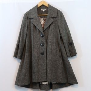 Cabi Shakespeare Wool Blend Swing Trench Coat